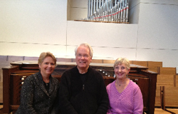 Stephen Hamilton with Laura Edmund and Sharon Kleckner
