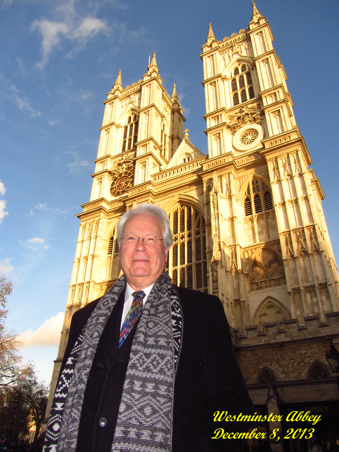 Stephen Hamilton at Westminster Abbey, London