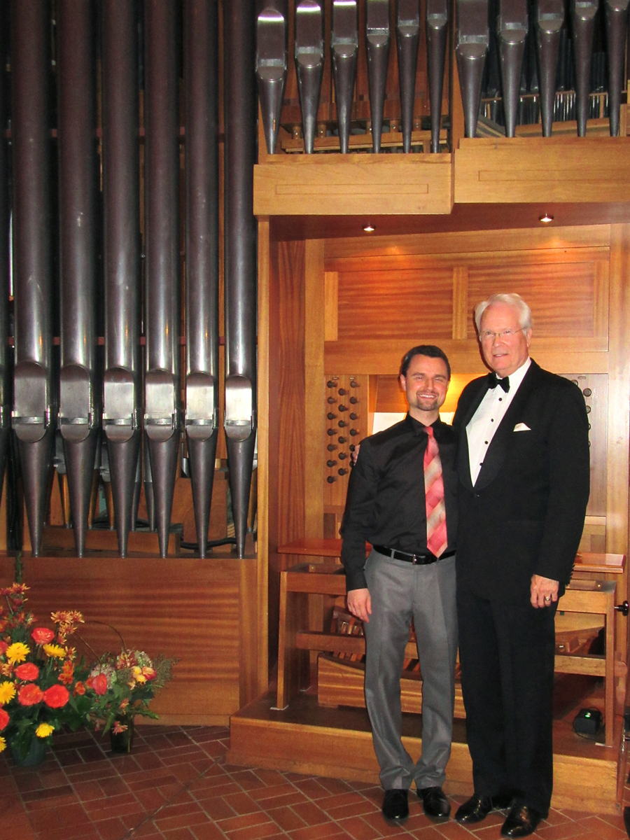 Stephen Hamilton and Jacob Benda at Nativity of Mary Church, Minneapolis